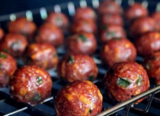 cheese-stuffed jalapeno meatballs